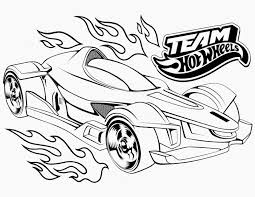 Hot Wheels Cars Coloring Pages
