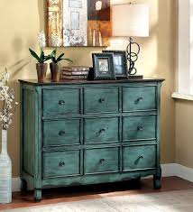Amazon Furniture Of America Camina Vintage Style Storage Chest Antique Green Brown Kitchen Dining
