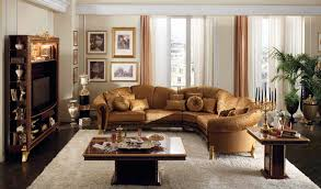 Cinetopia Living Room Skybox by Cream Gold Brown Living Room