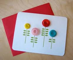 Button Birthday Card