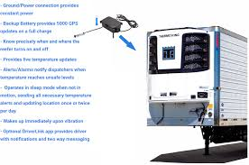 100 Central Refrigerated Trucking School Trailer Reefer GPS Temperature Monitoring Systems