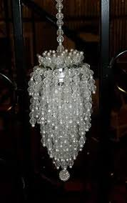 B Vtg Beaded Tea Ball Strainer Chandelier Christmas Tree Ornament Retro Atomic
