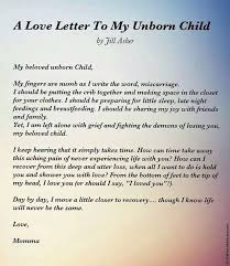 A Letter To My Unborn Child Relationships Pinterest Infant