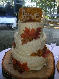 Beautiful Rustic Wedding Cake For A Fall Ceremony