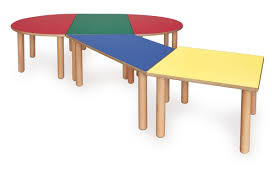 Modular Table For Children, Made Of Wood, Different Colors ...