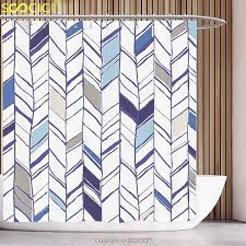 Navy Geometric Pattern Curtains by Cool Shower Curtain Navy Tribal Zigzag Lines Pattern In Various