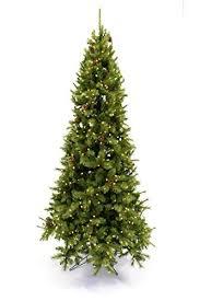 9 Slim Christmas Tree Prelit by Amazon Com 9 U0027 Slim Dresden Pine W Cones Prelit Artificial