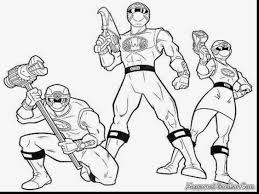 Magnificent Power Rangers Time Force Coloring Pages With And
