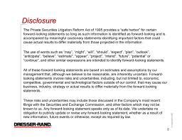 Dresser Rand Wellsville New York by Dresser Rand Group Inc Form 8 K Ex 99 1 Presentation Slide