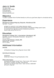 Resume For First Job Template Sample Pdf Free Download Office Word Templates