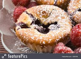 Picture Of Raspberry Cookies With Fresh Fruits