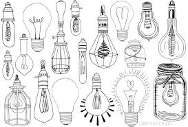 light bulb line illustrations vector and png on behance
