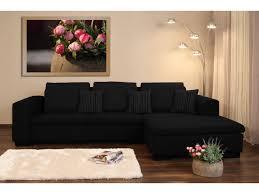canape vigo canapé d angle droit convertible tissu vie 3 places noir 52625 52643