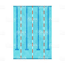 Olympic Swimming Pool With Clean Transparent Blue Water Vector Illustration Royalty Free