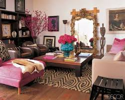Brown And Aqua Living Room Ideas by Living Room With A Pink Brown And Aqua Accents For The Red Living