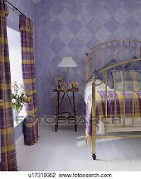 Mauve Bedroom by Stock Photo Of Paint Effect Checked Walls In Mauve Bedroom With