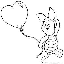 Winnie The Pooh Valentines Day Coloring Pages