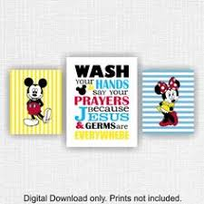 Mickey Minnie Bathroom Decor by The Color Is Customizable This Listing Is For A Set Of 4