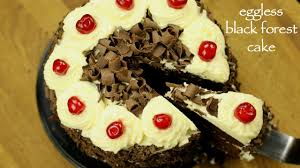 black forest cake recipe how to make easy eggless black forest cake recipe