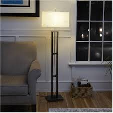 Mainstays Floor Lamp Assembly Instructions by Mainstays Dark Wood Floor Lamp With Rice Paper Shade Walmart Com