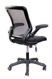 techni mobili chair assembly mesh task office chair with flip up arms color black