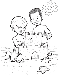 Popular Sand Castle Coloring Page Free Printable Pages For Kids 5489 Inside