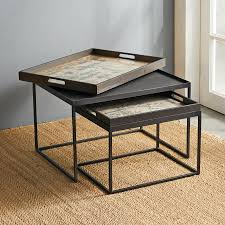 Botanique Tray Nesting Tables, Set Of 2 | Robert Redford's ... Nesting Tables Set Of 2 Havsta Gray Josef Albers Tables 4 Pavilion Round Set Zib Gray Piece Oslo Retail 3 Modern Reflections In Blackgold Two Natural Pine And Grey Zoa Nesting Tables Set Of Lack Black White Contemporary Solid Wood Maitland Smith Faux Bamboo