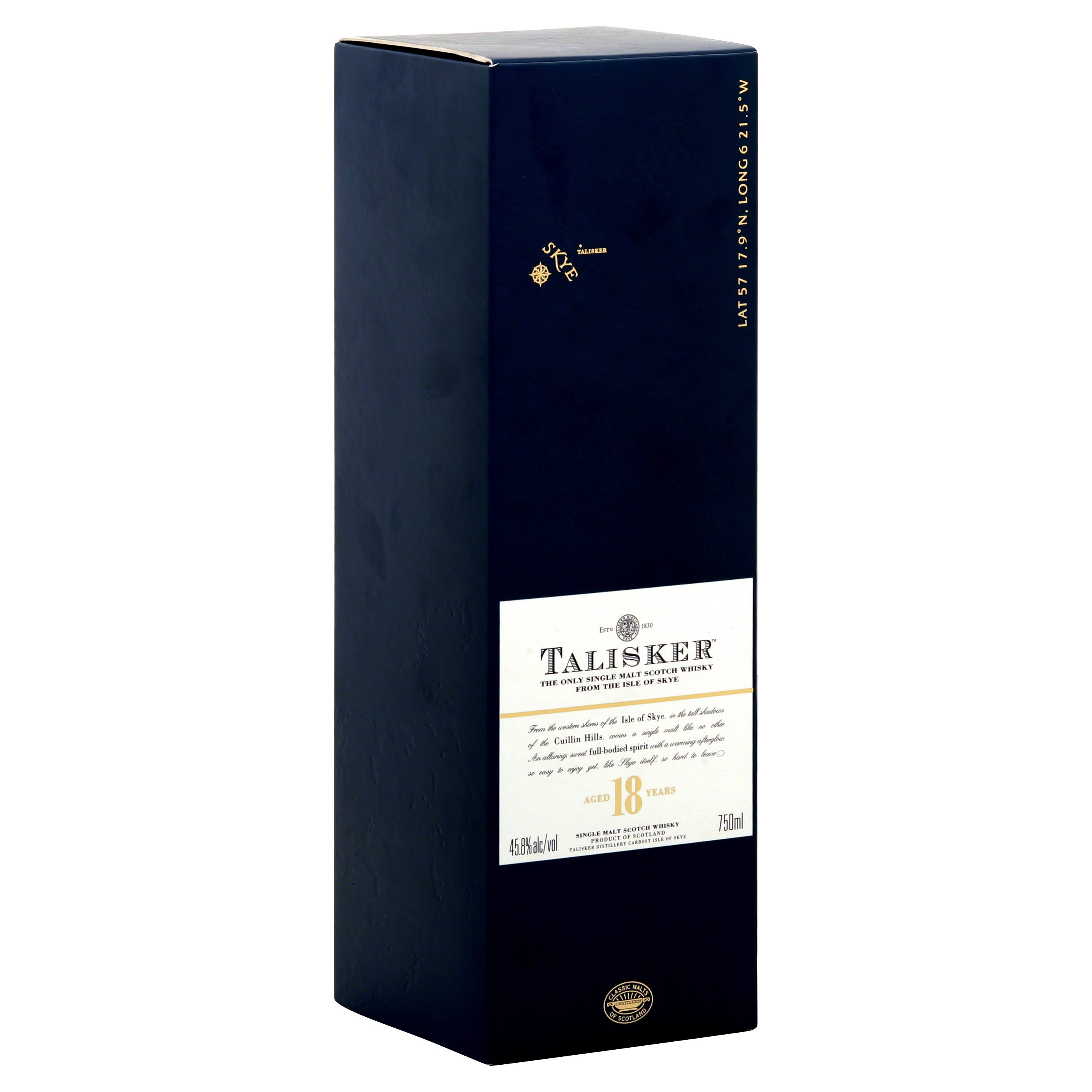 Talisker Single Malt Scotch Whiskey
