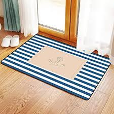 vorleger matten badematte badteppich 45x75cm marine