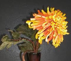 Orange Silk Floral Arrangement Contemporary Asian Modern By LaVOGA