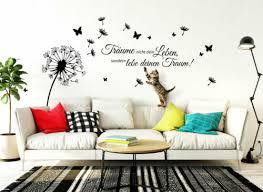 wandtattoo wandsticker wandaufkleber wohnzimmer zitat träume