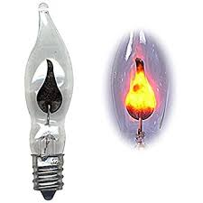 4 clear flickering flicker replacement candle light bulbs