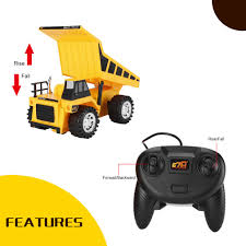 Kids RC Trucks Bulldozer Charging RTR Dump Car Remote Control Rc ...