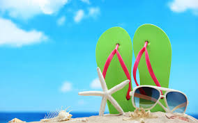 Beach Flip Flops Wallpaper