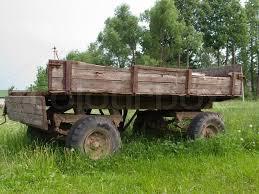Farm Land Transportation Old Wheel Cart Vehicle
