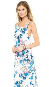 lovers friends golden light maxi dress blue floral in blue lyst
