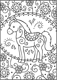 SPARK Horses Coloring Book Welcome To Dover Publications