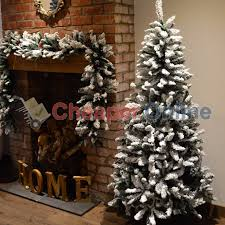 8ft Christmas Tree Ebay by 6ft 7ft Or 8ft Premier Snow Valley Fir Deluxe Snow Flocked