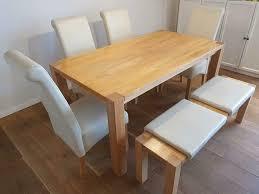 esszimmer sitzgruppe tisch stühle bank 6 personen