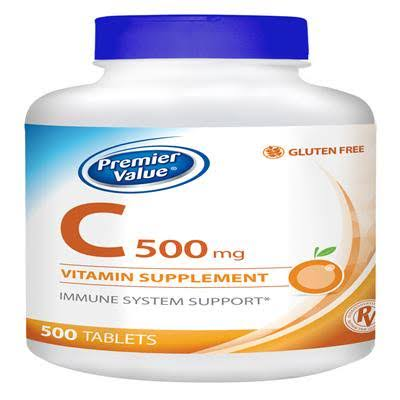 Premier Value, C Vitamin Supplement - 500mg, Tablets 500 ct