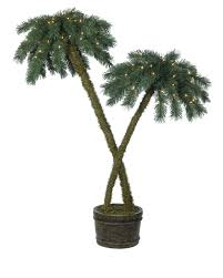 4 Ft Pre Lit Potted Christmas Tree by Beachside Artificial Potted Palm Trees Treetopia