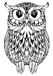Difficult Owl Colouring Pages