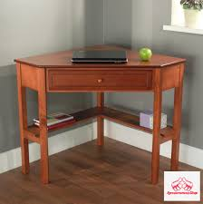 Shoal Creek Desk In Jamocha Wood by Corner Desk With Drawer Cherry Writing Furniture Study Table Small