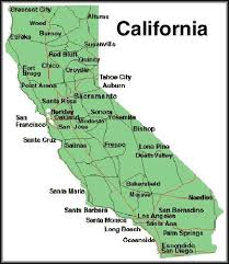 Cities In California State Map Simply Simple With