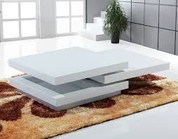 table basse design blanc laqué hcommehome