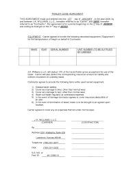 100 Truck Lease Agreement Template Best Semi Deals Lamoureph Blog Commercial Trailer Rental