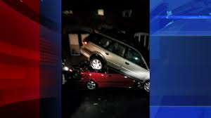 100 Trash Trucks In Action Truck Crashes Into Parked Cars In Grays Ferry Section Of