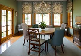 roman shade ideas Dining Room Traditional with antique french