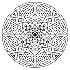 Flower Circle Shape Coloring Pages