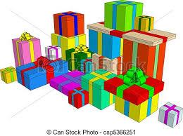 Presents illustration Clip art element present boxes